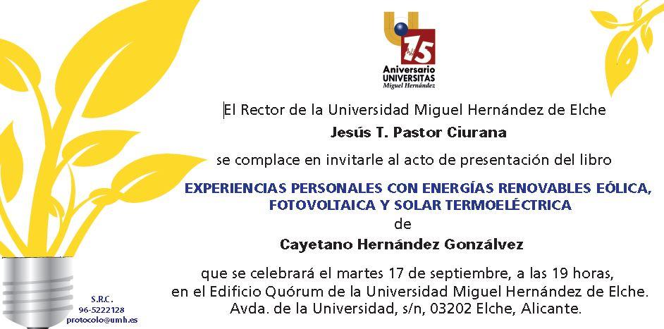 Presentación libro de Cayetano Hernández